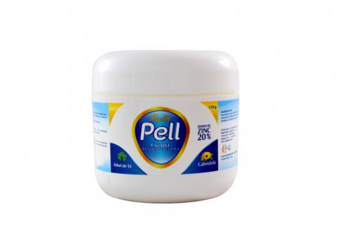 Crema Dermoprotectora Health Pell Con Óxido De Zinc 20 % Pote Con 120 g
