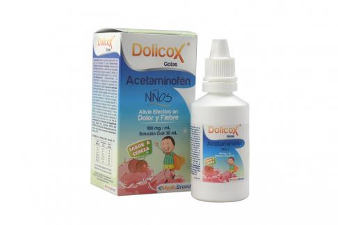 Dolicox Niños Gotas 100 mg / mL Caja Con Frasco Con 30 mL - Sabor Cereza
