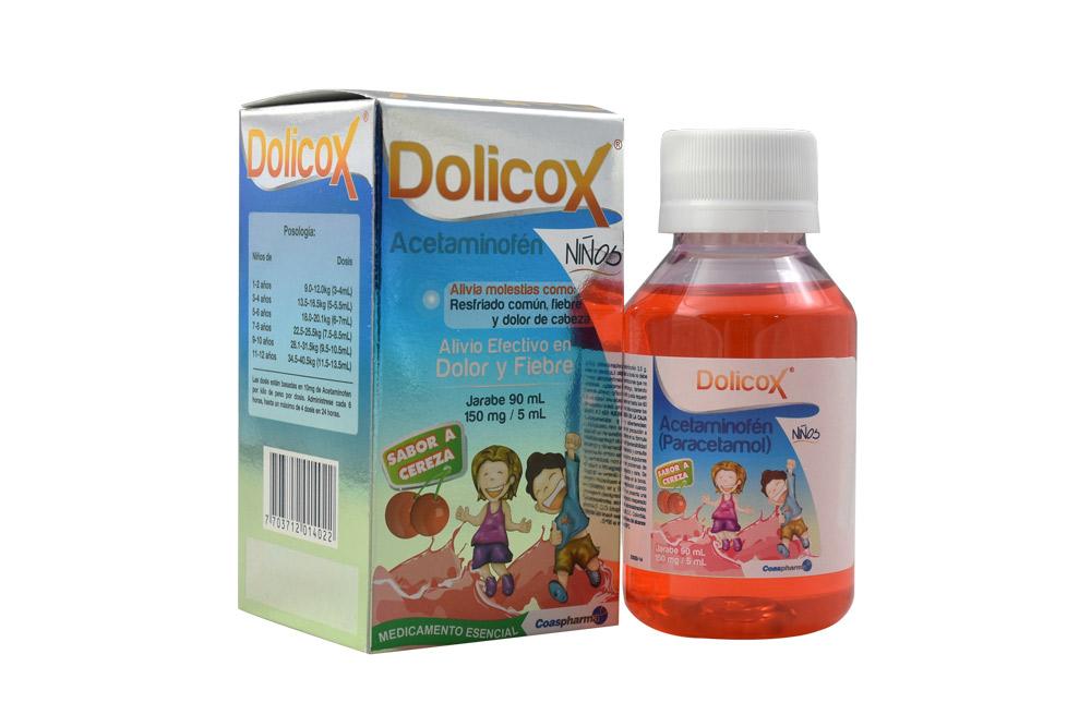 Dolicox Niños Jarabe 150 mg / 5 mL Caja Con Frasco Con 90 mL - Sabor Cereza