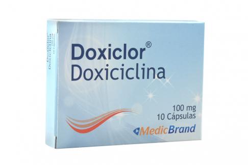 Doxiclor 100 mg Caja Con 10 Cápsulas Rx2