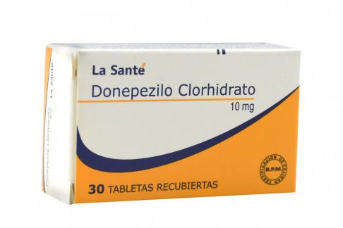 Donepezilo Clorhidrato 10 mg Caja Con 30 Tabletas Recubiertas Rx4