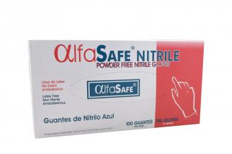 Guante Nitrillo Color Azul Talla S Caja Con 100 Pares