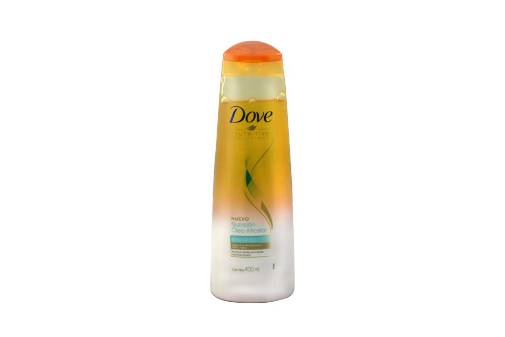 Shampoo Dove Nutrición Oleo Micelar Frasco Con 400 mL