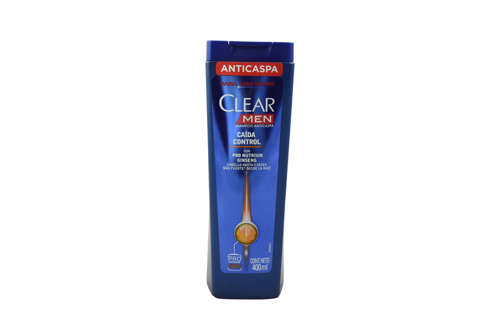 Shampoo Clear Men Caida Control Frasco Con 400 mL