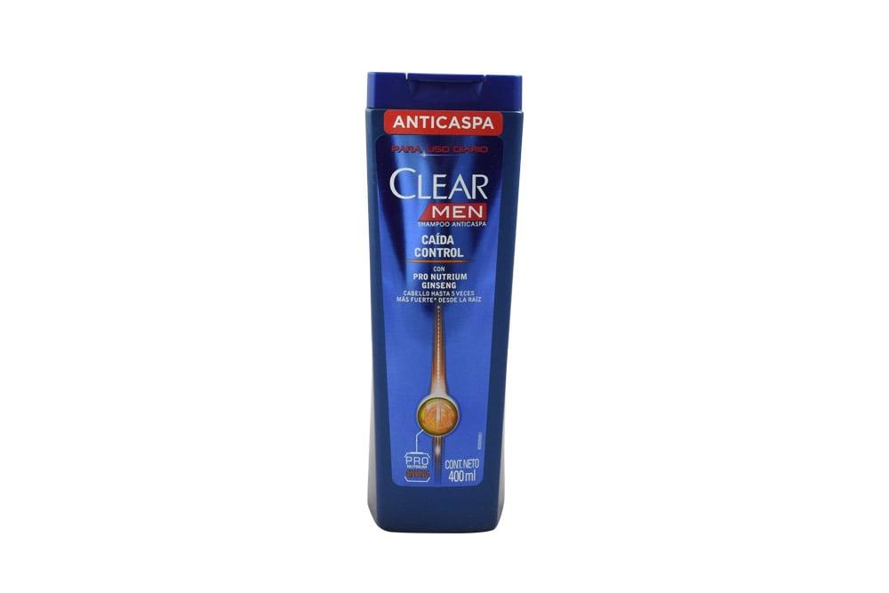 Shampoo Clear Men Caida Control Frasco Con 400 mL