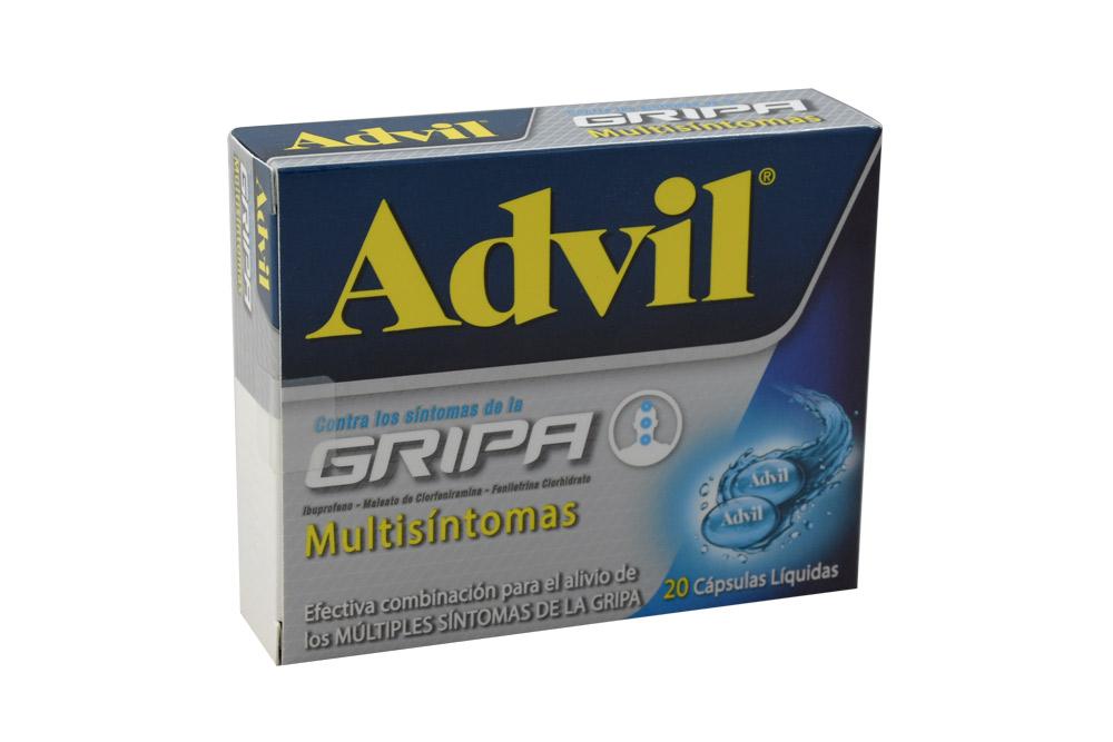 Advil Gripa Multisíntomas Caja Con 20 Cápsulas Líquidas
