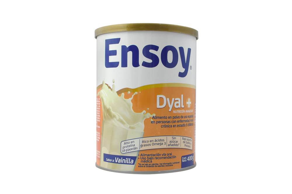 Ensoy Dyal Polvo Tarro Con 400 g - Sabor Vainilla