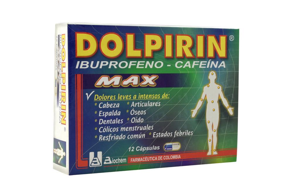 Dolpirin Max Caja Con 12 Cápsulas