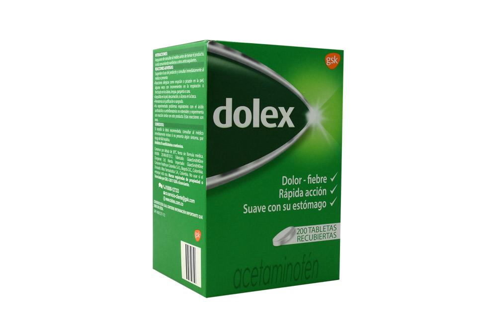 Dolex Caja Con 200 Tabletas Recubiertas