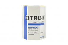 Citro K 1080 Mg Caja Con 30 Tabletas RX