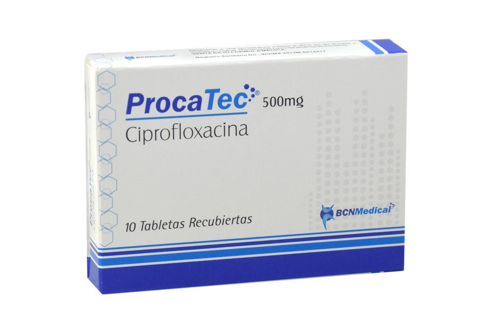 Procatec 500 Mg Caja x 10 Tabletas Recubiertas RX2