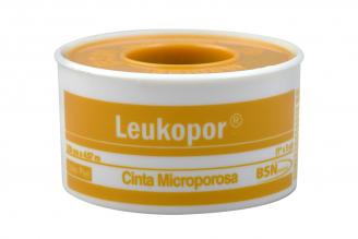 """Leukopor Cinta Microporosa 1"""" x 5 Yardas Empaque Con 1 Unidad"""
