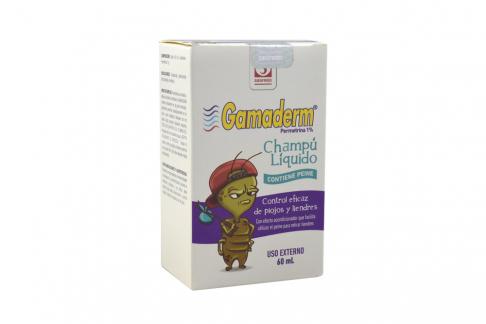 Gamaderm Shampoo Caja Con Frasco Con 60 mL