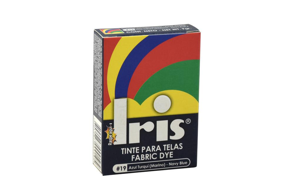 Iris Tinte Para Telas Caja Con Bolsa Con 9 g – Tono Número 19 Azul Turquí Marino
