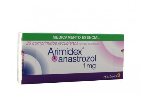 Arimidex 1 mg Caja Con 28 Comprimidos Recubiertos Rx4 Rx1