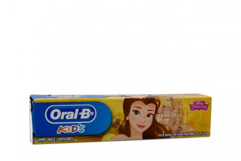 Crema Dental Oral B Kids Princesas Caja Con Tubo Con 37 mL