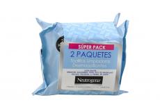 Toallas Desmaquillantes Neutrogena 2 Paquetes Con 25 Unidades C/U