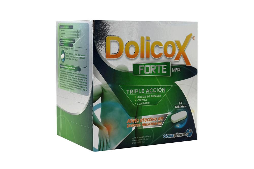 Dolicox Forte Max 250 / 220 / 65 mg Caja Con 48 Tabletas