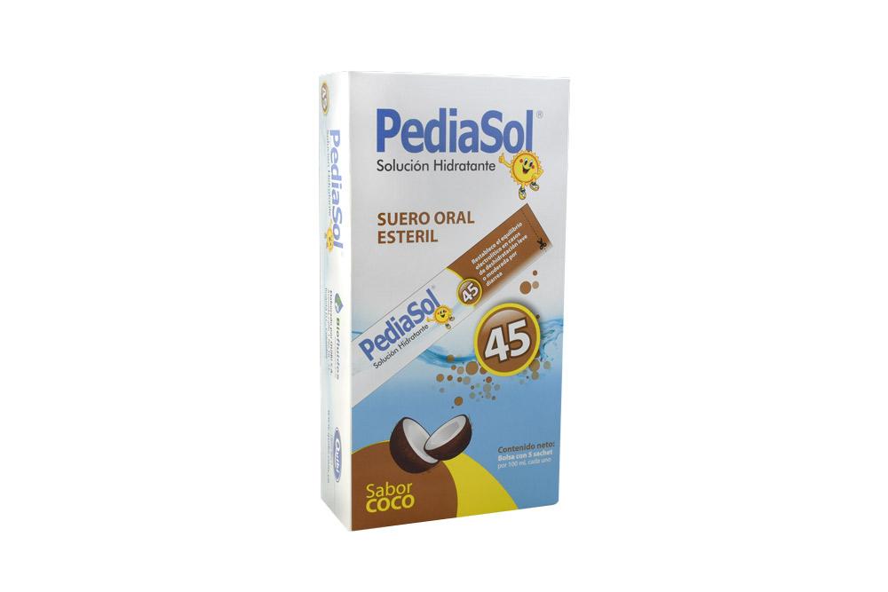Pediasol 45 Coco Caja Con 5 Sachets Con 100 mL C/U