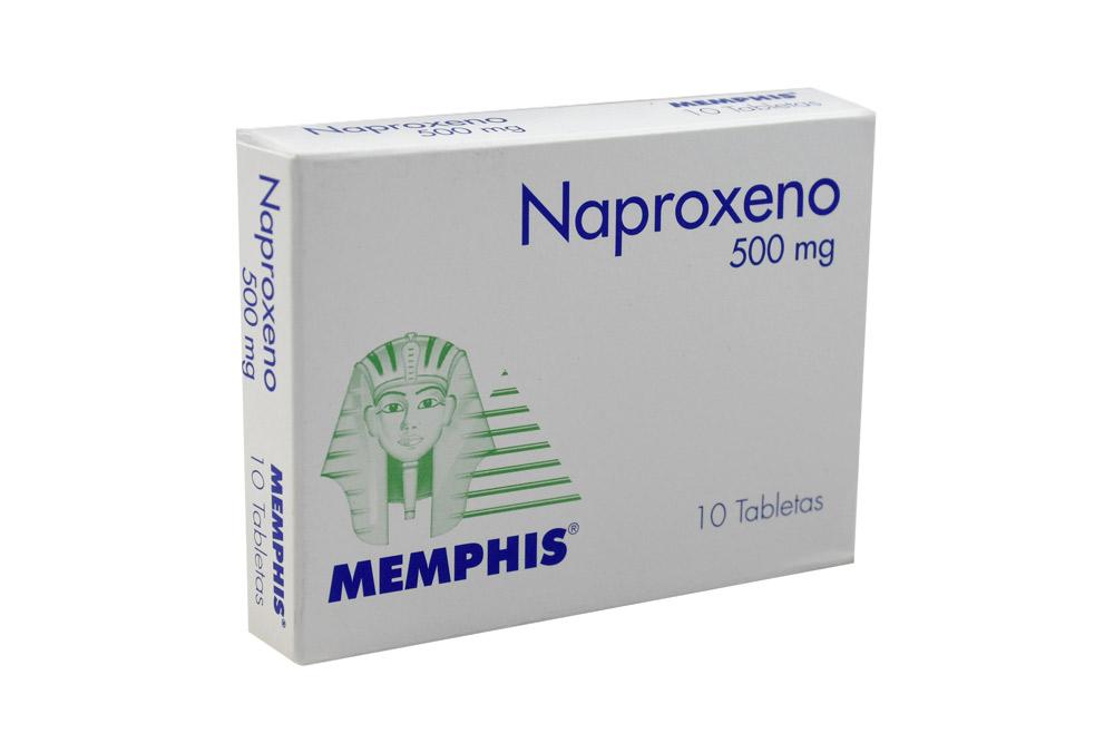 Naproxeno 500 mg Caja Con 10 Tabletas Rx