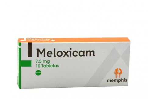 Meloxican 7.5 mg Caja Con 10 Tabletas Rx