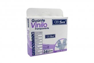 Guantes De Vinilo Libres De Polvo Alfa Safe Talla M Caja Con 24 Unidades