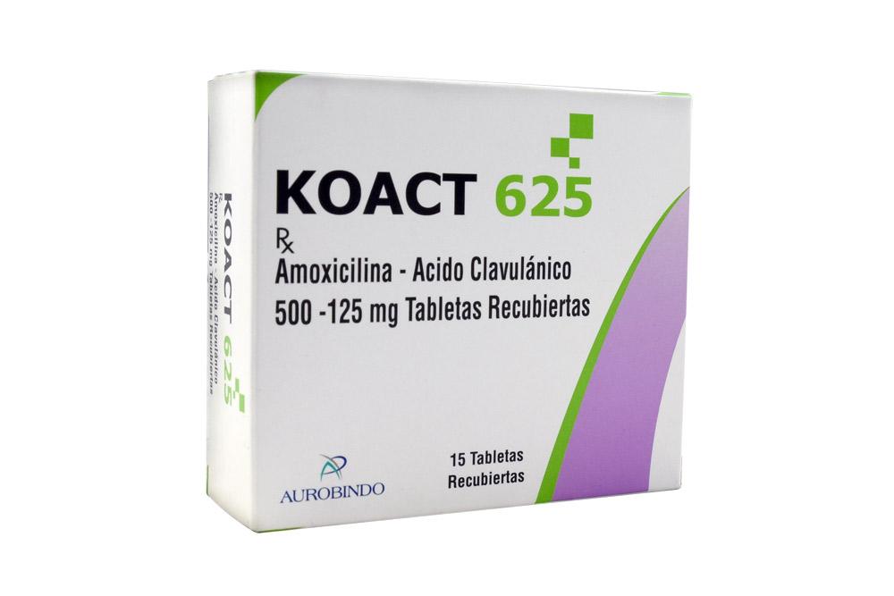 Koact 625 Caja Con 15 Tabletas Rx