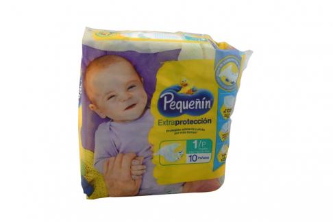 Etapa 1 P Pañal Pequeñín Extra Protección Paca Con 10 Unidades