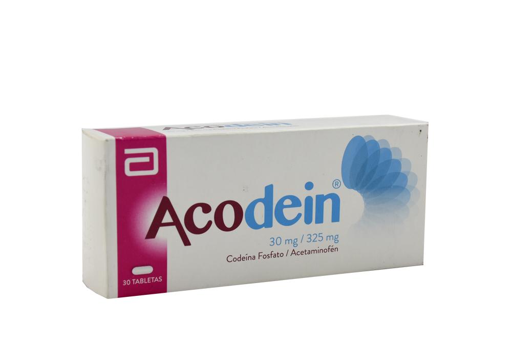 Acodein 30mg / 325 mg Caja Con 30 Tabletas Rx
