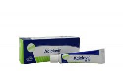 Aciclovir 5% Ungüento Tópico Caja Con Tubo Con 15 g
