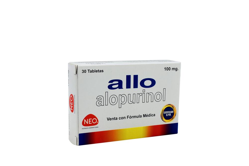Allo Caja Con 30 Tabletas Con 100 mg Rx