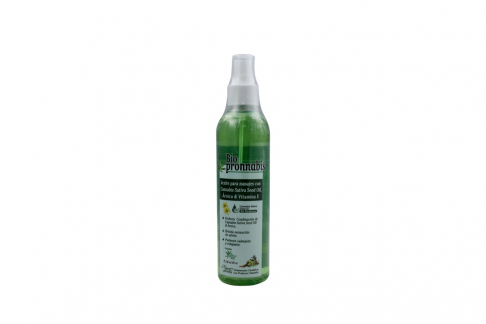 Aceite Para Masajes Biopronnabis Frasco Con 240 mL