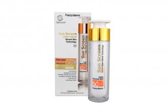 Protector Solar Frezyderm Velvet Sunscreen Color Face Cream SPF 50+ Caja Con Tubo Con 50 mL