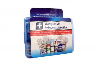 Botiquín De Primeros Auxilios Promedical Caja Plástica Azul Con Kit