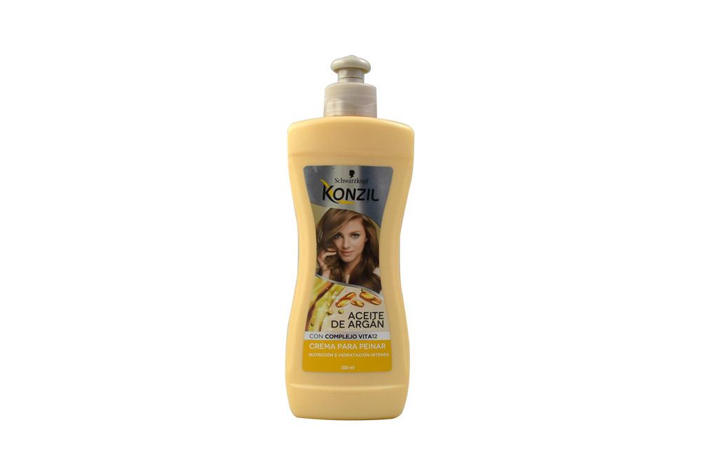 Konzil Aceite De Argán Crema Para Peinar Frasco Con 230 mL