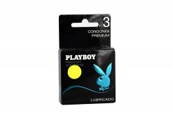 Condones Playboy Lubricados Caja Con 3 Unidades