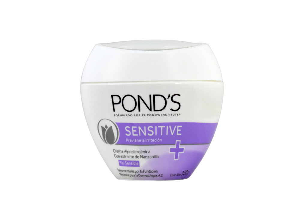 Crema Pond´s Sensitive Hipoalergenica Frasco Con 100 g