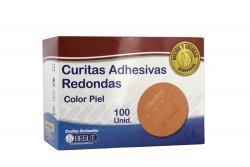 Curitas Adhesivas Redondas Begut Color Piel Caja Con 100 Unidades