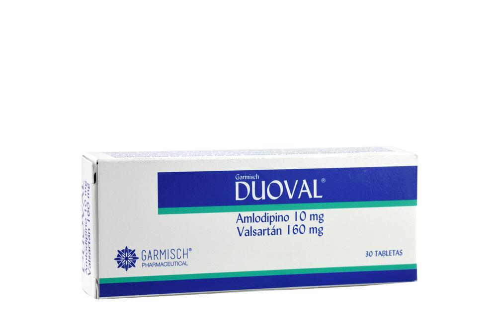 Duoval 10 / 160 mg Caja Con 30 Tabletas Rx Rx4