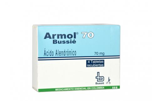 Armol 70 mg Caja Con 4 Tabletas Rx