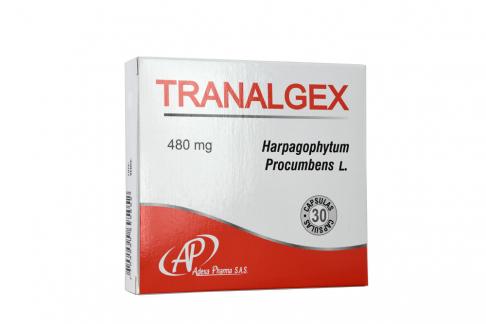 Tranalgex 480 mg Caja Con caja Con 30 Cápsulas