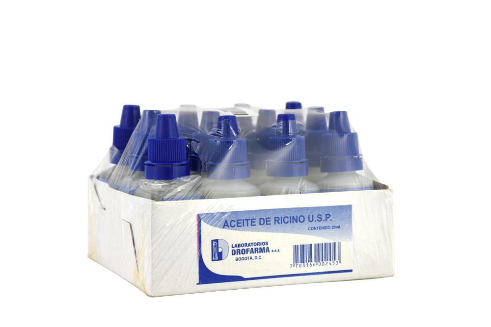 Aceite De Ricino Empaque Con 12 Unidades Con 12 mL C/U