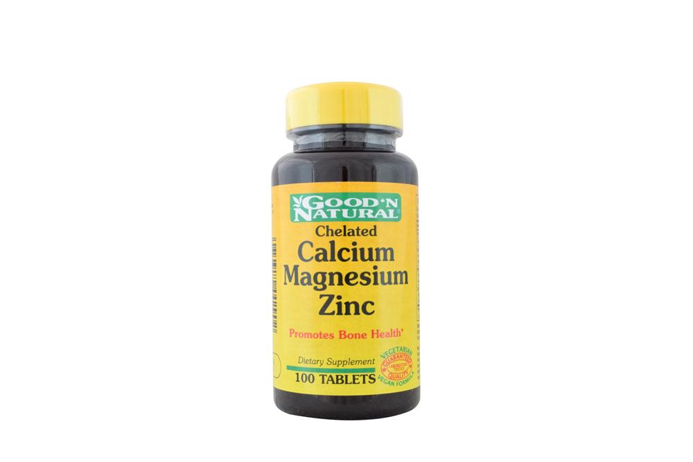 Good'N Natural Calcium Magnesium Zinc Frasco Con 100 Tabletas