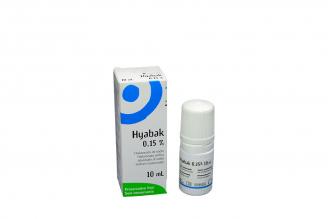 Solución Limpiadora Hyabak 0,15 % Lentes De Contacto Frasco Con 10 mL