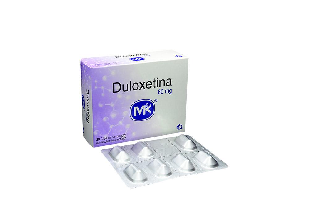 Duloxetina 60 mg Caja Con 28 Cápsulas Con Gránulos Rx4 Rx1