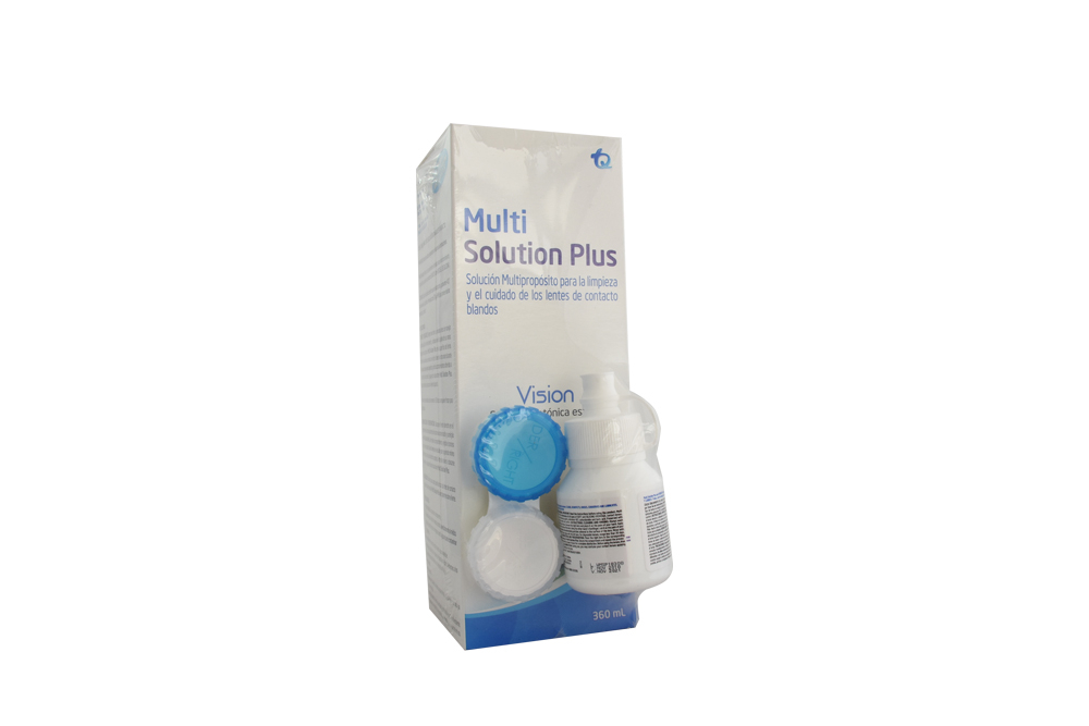 Solucion Limpiadora Multi Solution Lentes Frasco Con 360  mL
