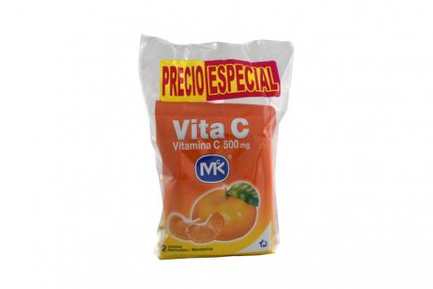 Vita C Sabor A Mandarina 500 Mg Bolsa Con 36 Tabletas