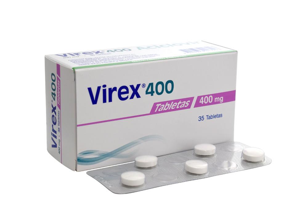 Virex 400 mg Caja Con 35 Tabletas Rx