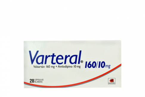 Varteral 160 Mg / 10 Mg Caja Con 28 Cápsulas Rx Rx4