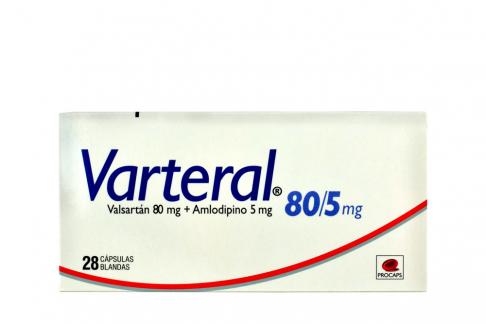 Varteral 80 Mg / 5Mg Caja Con 28 Cápsulas Rx Rx4
